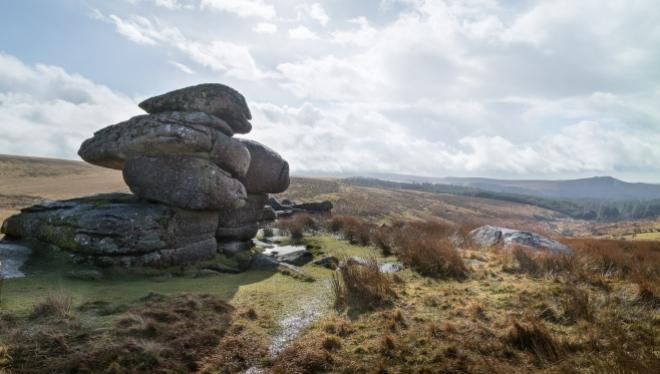 Logan Stone, toward Sheepstor