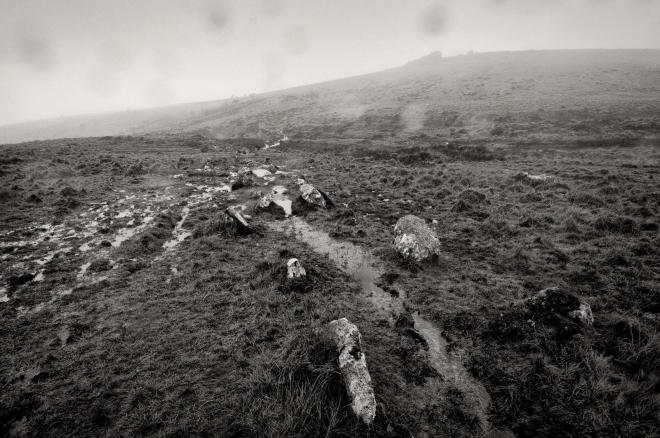 Stone Row and Black Tor, Jan 2012